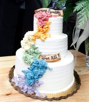 Grand Pride Wedding at Casa Loma (Wedding cake photo)
