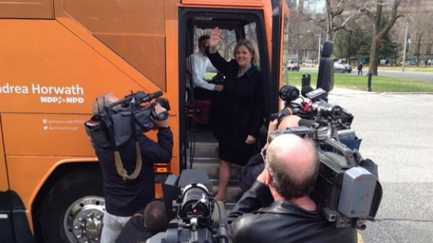 Andrea Horwath kicked off her campaign from Kitchener-Waterloo.