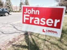 John Fraser Ontario Election Sign