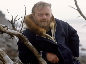 Author and environmentalist Farley Mowat has died at age 92. He poses here during the filming of the 1989 CBC documentary Sea of Slaughter, based on Mowat's book of the same name, which describes the wasteful destruction of wildlife on Canada's east coast.