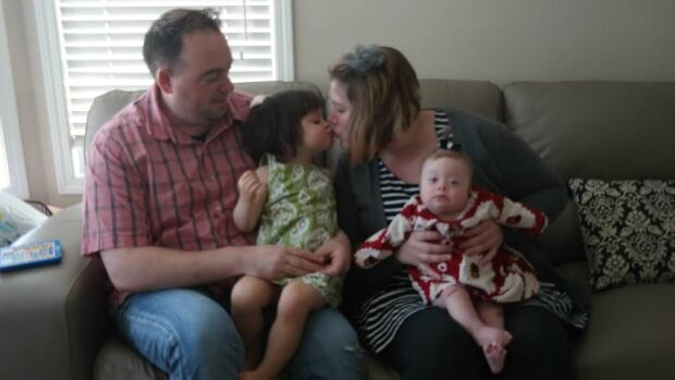 High River resident Krista Rowland-Collins keeps a blog where she writes about her family, from left, James Collins, Brinley and Adele, and her experiences with Adele, who was born with Down syndrome.
