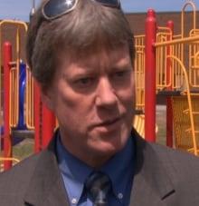 David Petrie principal Century Public School walking school bus