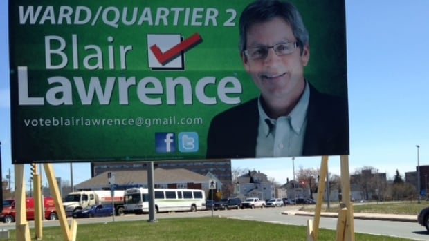 Mike Dawson and Blair Lawrence were campaigning to fill the ward 2 seat on Moncton city council in Monday's byelection.