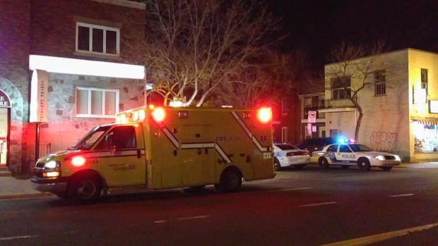 A 17-year-old girl was taken to hospital suffering from shock after four intruders broke into the apartment she shared with an 18-year-old male.