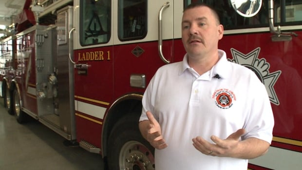 Ryan Pennington, a firefighter from Charleston, West Virginia, was in Gander this week to talk to other local firefighters about the issues that arise when dealing with a blaze at a hoarder's home.
