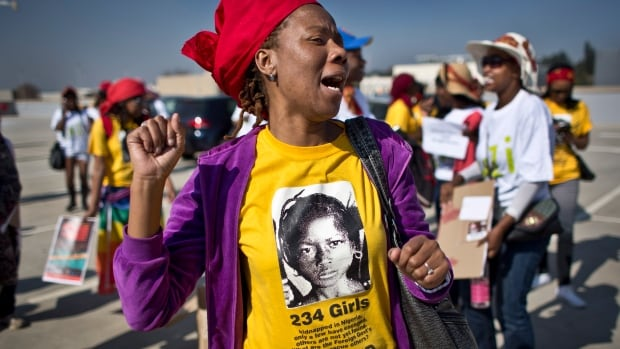 South Africans protest in solidarity against the abduction three weeks ago of hundreds of schoolgirls in Nigeria by the Muslim extremist group Boko Haram and what protesters said was the failure of the Nigerian government and international community to rescue them.