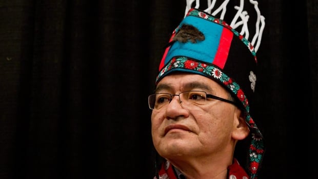 John Ridsdale, Chief Namoks of the Wet'suwet'en First Nation, says his community will never support the Northern Gateway pipeline project.