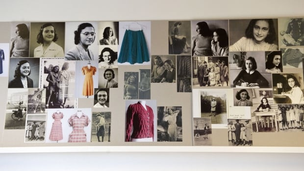 Photos of Anne Frank are displayed in a Theater Amsterdam dressing room. Seeking to engage a new generation with her tragic story, Anne, a major new play based on the Jewish teenager's diary, is opening in Amsterdam.