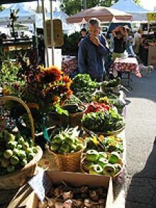 Fresh veggies at the Trout Lake Farmers Market