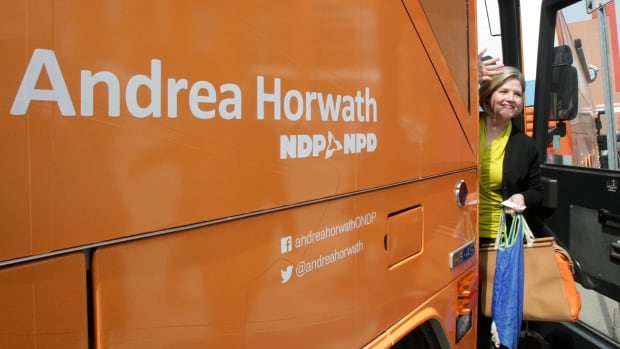 """Ontario NDP Leader Andrea Horwath says """"jobs, first and foremost,"""" are the single most important issues to Windsor residents."""