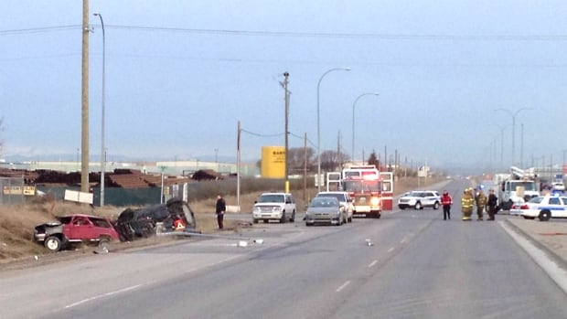 A man was pronounced dead at the scene after a collision on Glenmore Trail at 68th Street S.E. on Friday morning.