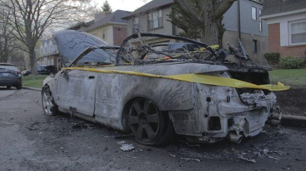 22 Brendan burned car