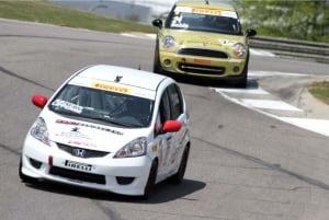 Damon Surzyshyn's race car in action