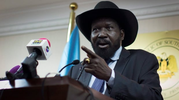 South Sudan's President Salva Kiir, pictured here at a press conference in January, has reached a new ceasefire with rebel commander Riek Machar after months of ethnic fighting.