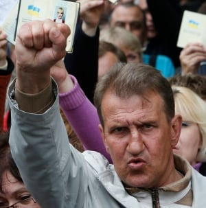 Ukraine referendum vote