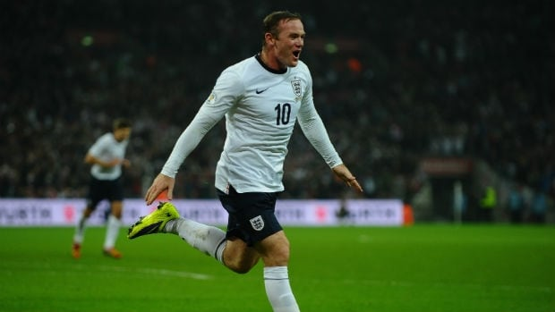 Wayne Rooney will lead England into Brazil.