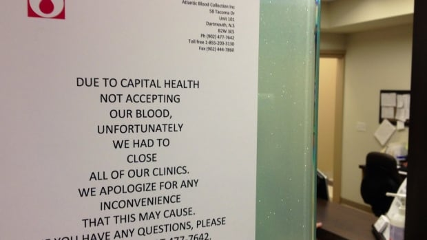 Eleven clinics in the Halifax area are no longer taking blood samples after Capital Health ended its contract with a private blood collection company.