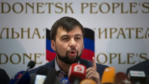 "Fresh from a hastily arranged referendum vote, insurgent leader Denis Pushilin told reporters during a news conference in Donetsk on Monday that the region will decide which country it joins following ""consultations with experts."""