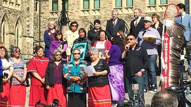Beginning on Mother's Day, the NAN Women's Council led a 24-hour ceremonial drumming, which they concluded Monday on Parliament Hill.