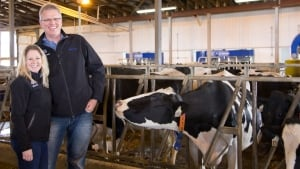 Dairy farmers Gerhard and Heather Ritzema