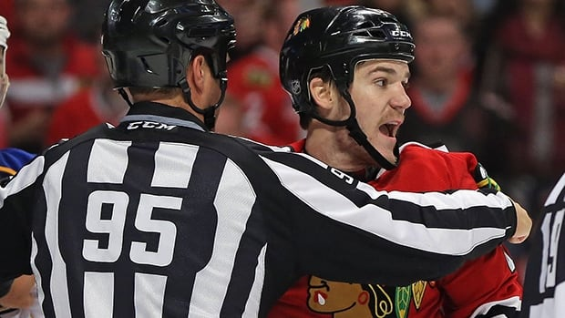 Andrew Shaw will not be returning to the Chicago Blackhawks lineup for Game 6 against the Wild in Minnesota, the team announced on Monday.