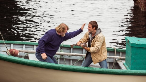 Actors Brendan Gleeson, left, and Taylor Kitsch star in The Grand Seduction, a comedy set in a fictional Newfoundland community.