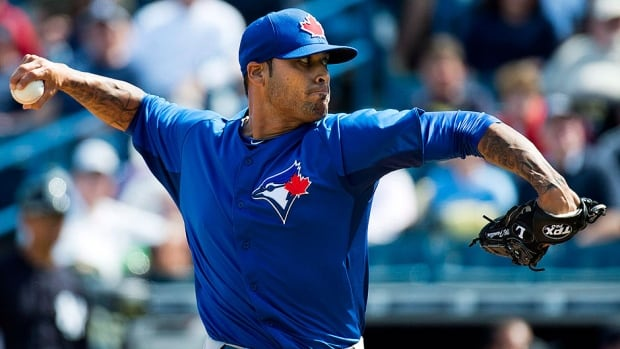 Blue Jays relief pitcher Sergio Santos is on the 15-day disabled list with a sore elbow. He has a 9.00 earned-run average in 14 appearances this season and recently lost the closer's job.
