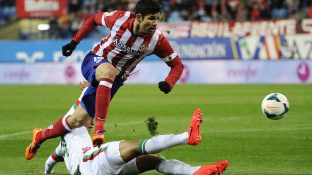 Diego da Silva Costa (top) has chosen to play for Spain instead of his birth country Brazil at the upcoming World Cup.