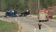 Highway 148 fatal crash vehicles smashed May 13 2014