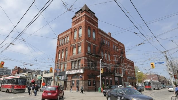 The Broadview Hotel at Queen and Broadview has been there since the 1890s. Jilly's which occupies the bottom floor, has been operating there for decades.