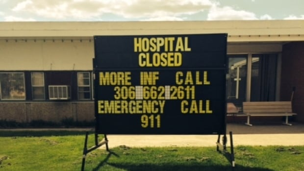 Sign in front of Maple Creek, Sask. hospital.