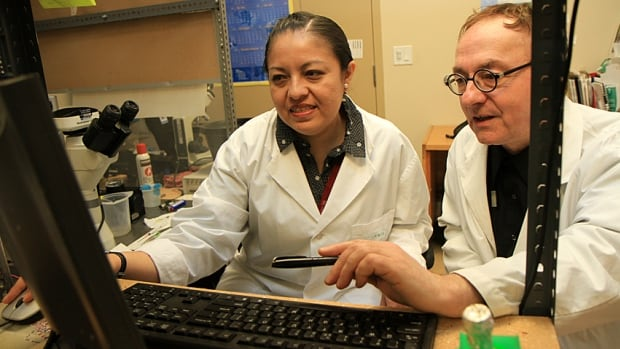 Dr. Wolfgang Kunze, right, and Dr. Azucena Perez-Burgos are studying the impact the gut has on depression and anxiety.