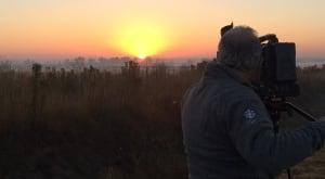 Richard shooting sunset