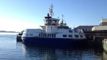 The Christopher Stannix sits at Halifax Wednesday morning.