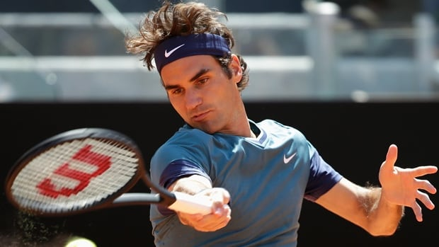 Roger Federer hits a forehand return in a 1-6, 6-3, 7-6 upset loss to Jeremy Chardy at the Italian Open in Rome on Wednesday.