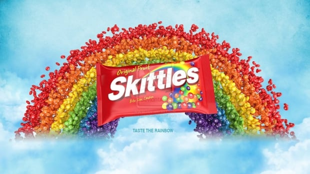 Colourful candy like M&M's and Skittles are dyed with several artificial colours. Skittles has 33.3 mg of dye per serving.
