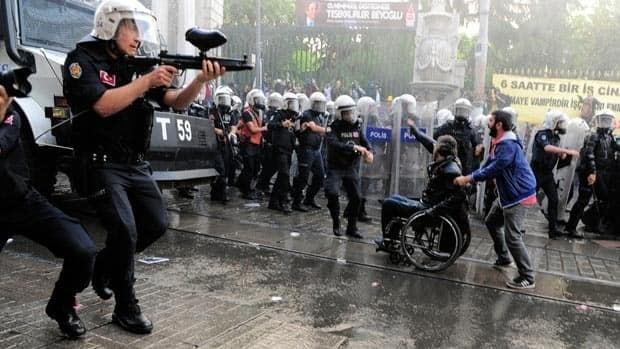 Turkish mine protest