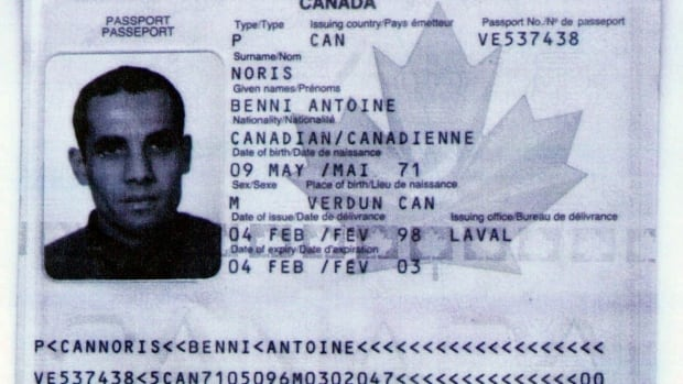 Algerian Ahmed Ressam, who was convicted on several terrorism charges in 2001, used this false Canadian passport to cross from Canada into the U.S. This image is a photocopy of the passport, which was presented as evidence at his Los Angeles trial.