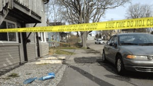 Saint John police have part of Lancaster Street blocked off as they investigate violent fight