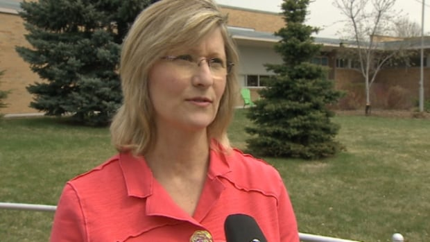 Lana Brenneis is part of a group of parents proposing St. Gabriel's join forces with a senior centre to share costs.