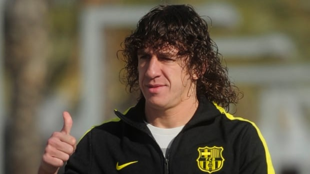 Carlos Puyol, seen in 2010, made few appearances this season for the club.