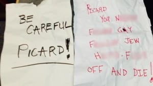 Threatening notes received by James Picard