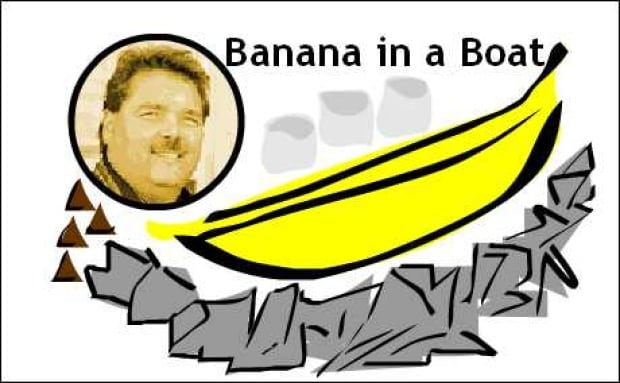 Cec's banana in a boat