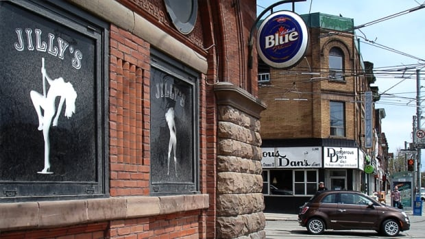Jilly's, the notorious strip club at the Broadview Hotel