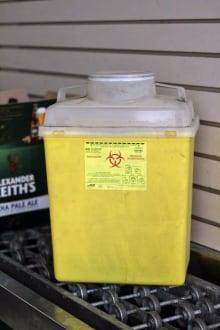 sharps disposal unit
