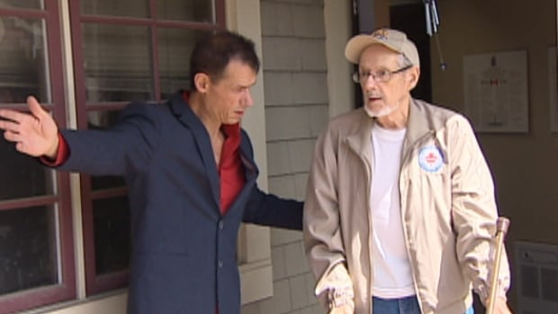 A Hampton man went to his MP's office with the intention of leaving his 83-year old dad there after foreign, live-in caregiver was denied entry to Canada.