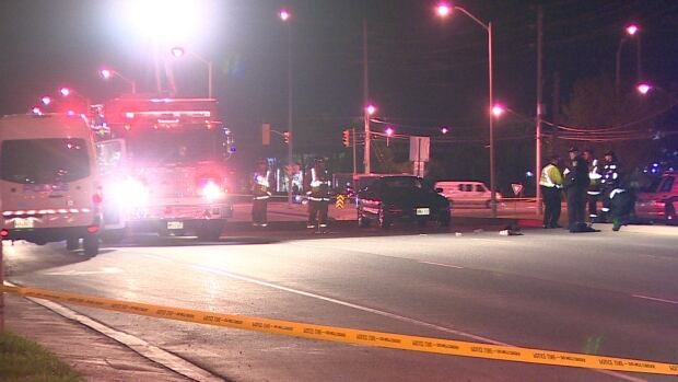 A 33-year-old Mississauga man was taken to a trauma centre with life-threatening injuries after being struck by a sedan on Friday night. Police confirmed he died Saturday.
