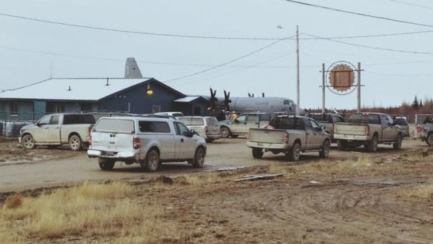 The airport in Attawapiskat was the site of flood evacuations on Sunday.