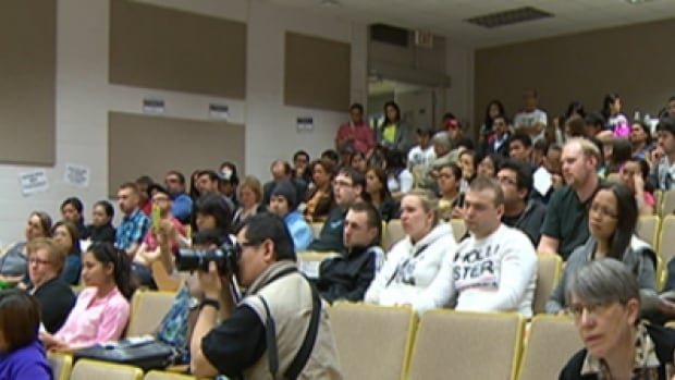 Temporary foreign workers gathered at the University of Alberta last night to discuss what can be done in light of a moratorium on the program.