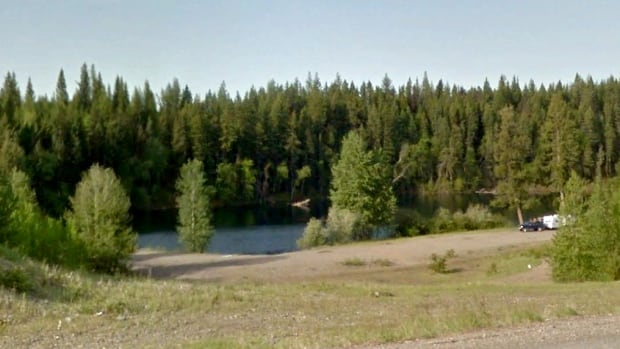 Kwitzil Lake, commonly known as Gravel Pit Lake, sits next to Highway 16, approximately 40 kilometres west of Prince George, B.C.